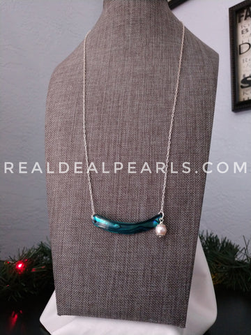 Abalone and Akoya Bar Necklace