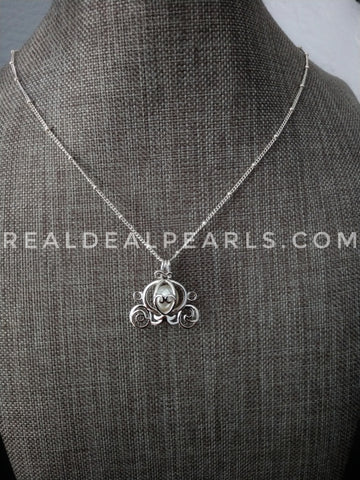 Enchanted | Sterling Silver Carriage Cage Necklace