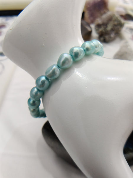 "7"" Cultured Freshwater Pearl Bracelet Baby Blue"