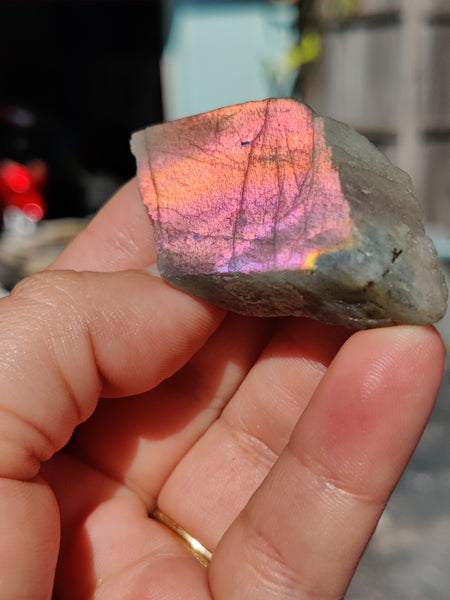 Labradorite Chunk with Polished Face