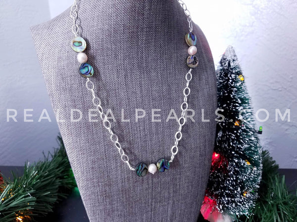 Abalone and Akoya Necklace