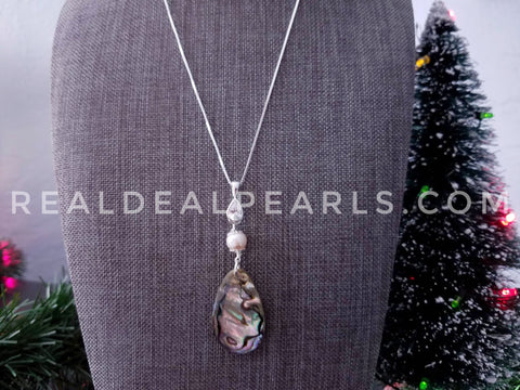 Abalone and Cultured Akoya Pendant Necklace