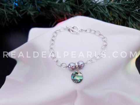 Abalone and Akoya Bracelet
