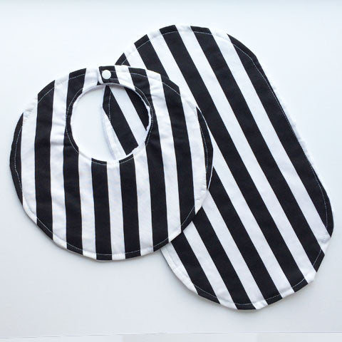 Bib + Burp Cloth Set | Bold Stripes
