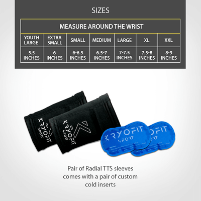 Wrist/Ankle - Cold Compression Sleeves With Freeze Gel Inserts