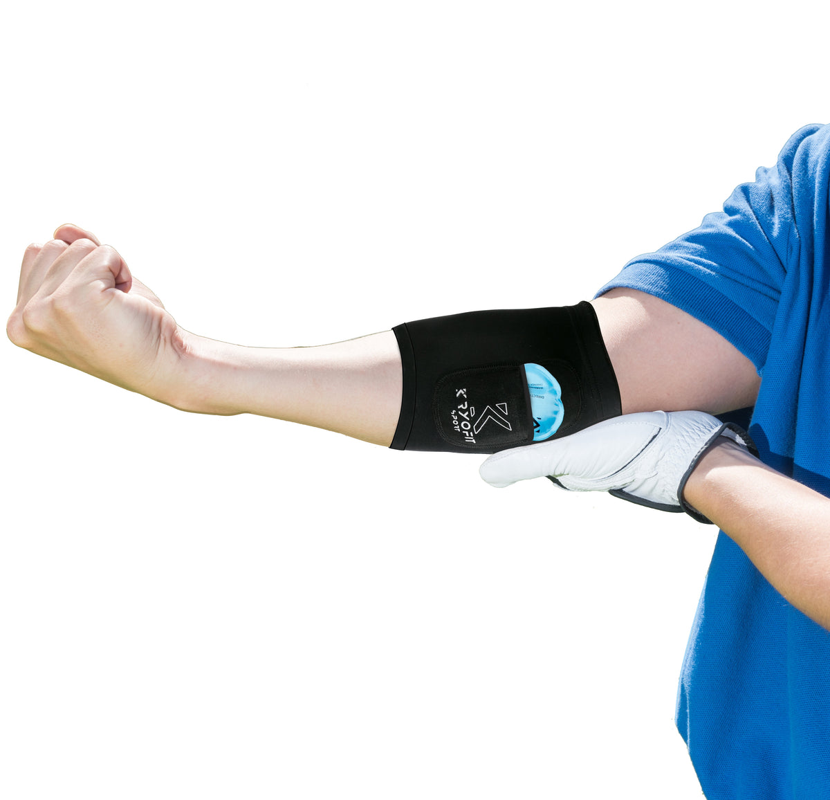Kryofit Cold Compression Sleeves - Eliminate Your Pain & Swelling In The Elbow, Knee, Bicep!