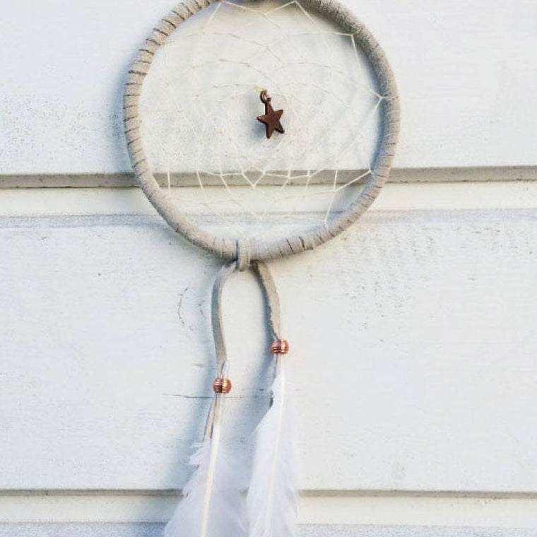 Catching Dreams Dreamcatcher Small White