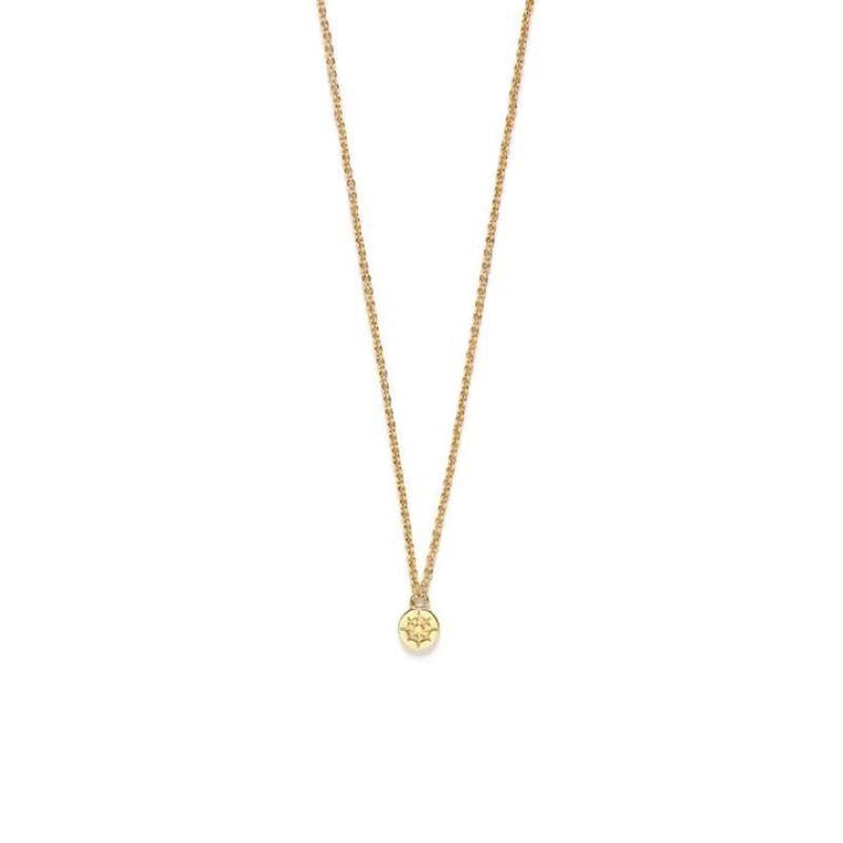 Riverstones Compass Necklace Gold