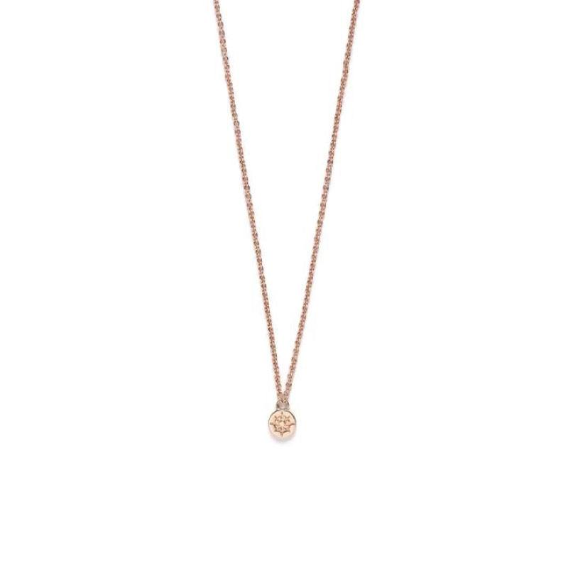 Riverstones Compass Necklace Rose Gold