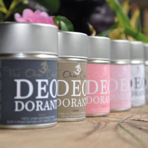 All natural deodorants from the Ohm Collection