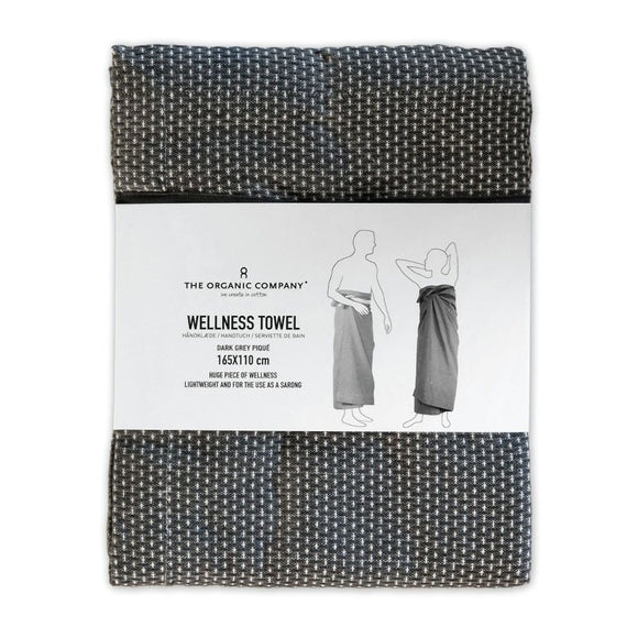 The Organic Company Wellness Towel Dark Grey