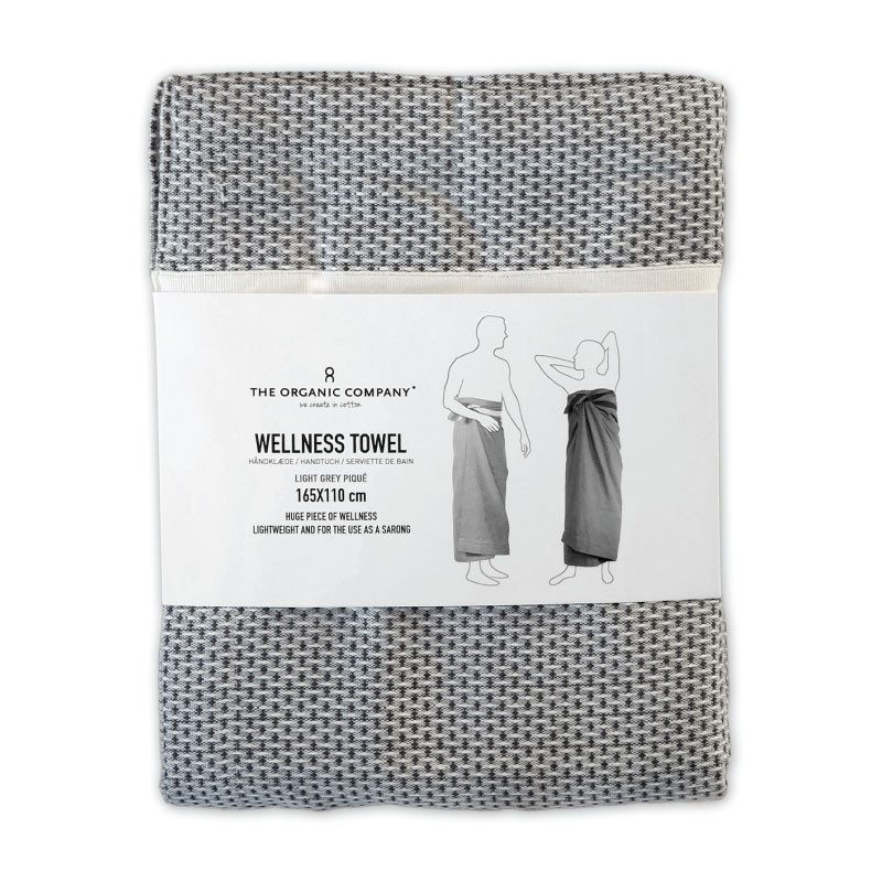The Organic Company Wellness Towel Light Grey packshot