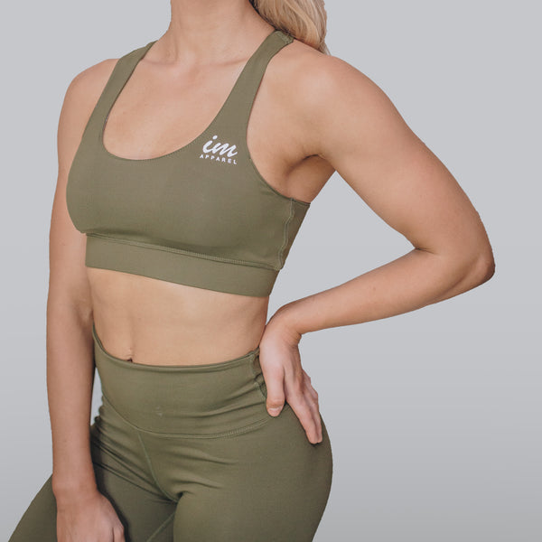 PREMIUM SPORTS BRA - Army Green