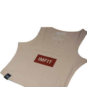 IMFiT Box Crop Top - Beige