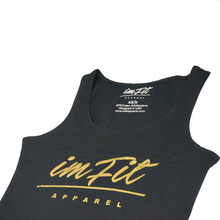 Load image into Gallery viewer, IMFiT Crop Top - Black & Gold 2.0