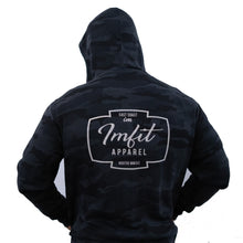 Load image into Gallery viewer, IMFiT ZIP UP HOODIE UNISEX - Black Camo