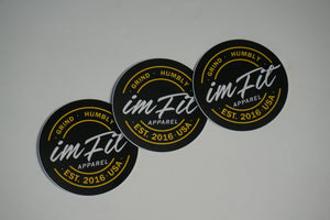 IMFiT Black & Yellow Circle Logo Stickers