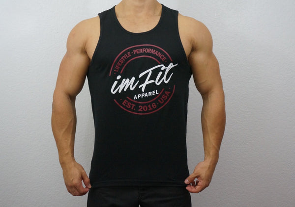 IMFiT TANK - Black lifestyle performance