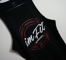 Load image into Gallery viewer, IMFiT TANK - Black lifestyle performance