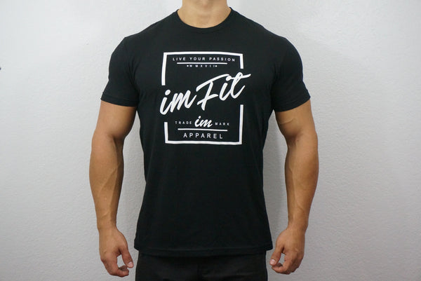 IMFiT Live your passion Tee - Black