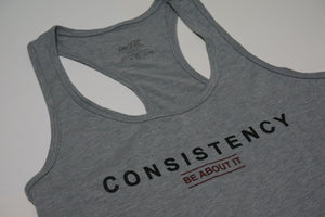 Consistency racer back tank - Light Grey