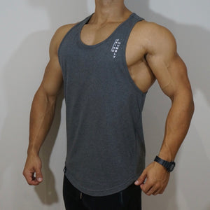 Grind Humbly OG Stringer Tank - Charcoal Gray