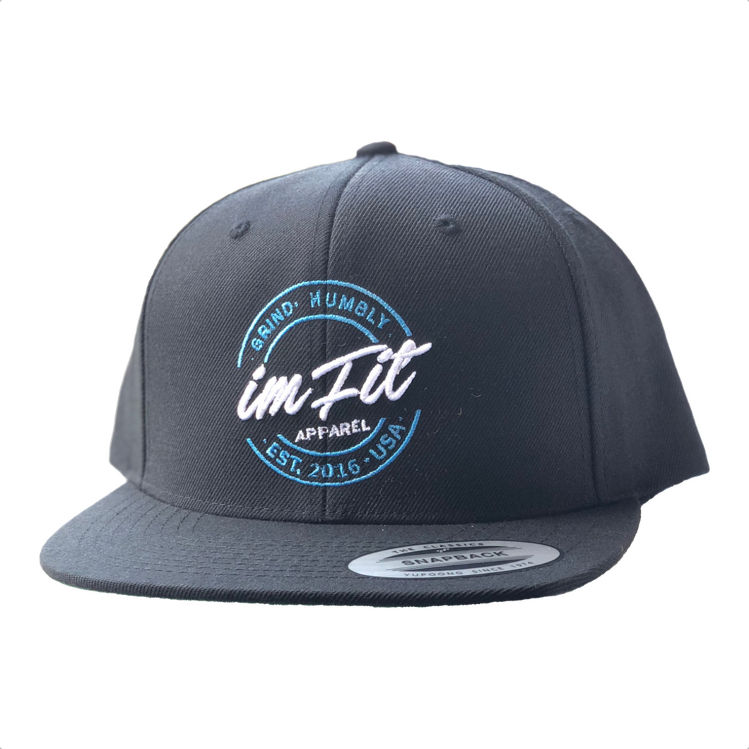 Grind Humbly Snapback - Black & Baby blue