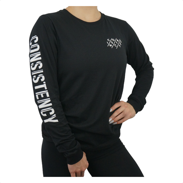 Unisex Consistency Long Sleeve Tee - Black