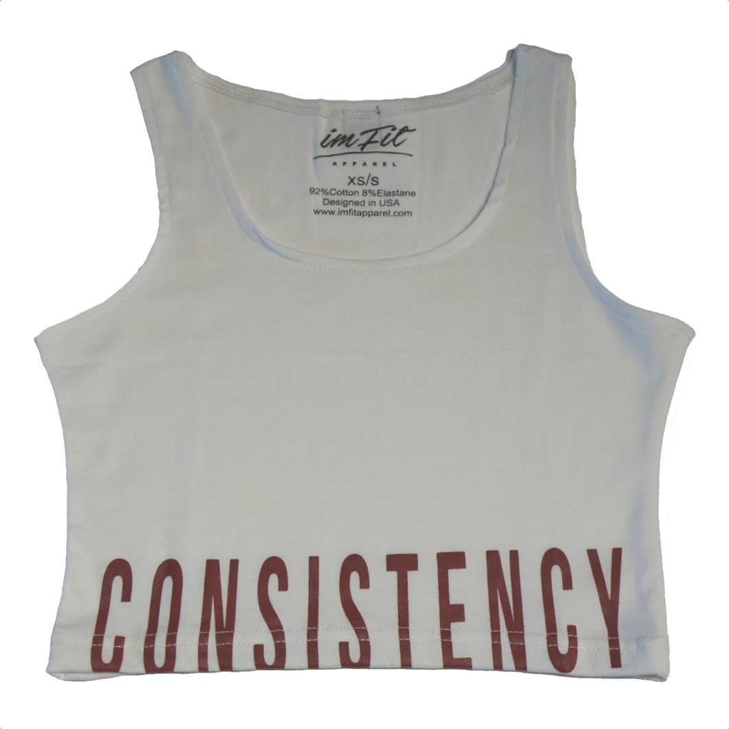 Consistency Crop Top 2.0 - White