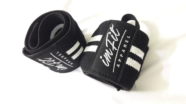 IMFiT Wrist Wraps - Black & White