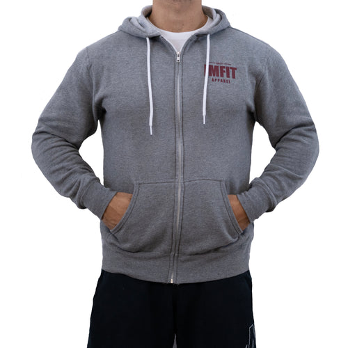 IMFiT ZIP UP HOODIE UNISEX - Gunmetal Heather