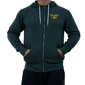 IMFiT ZIP UP HOODIE UNISEX - Alpine Green