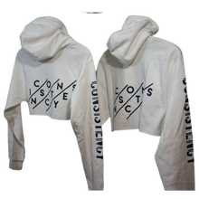 Load image into Gallery viewer, Relaxed Cropped Hoodie Consistency - White