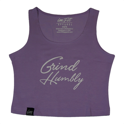 Grind Humbly Crop Top 2.0 - Lavender
