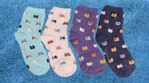 Comfy Cartoon Cat Socks!