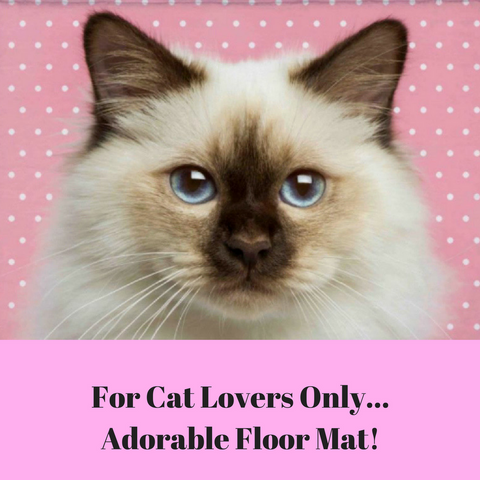 Cute Himalayan Cat High Quality Floor Mat!