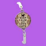 "Keep Calm...Love Cats Charm Bracelet ""FREE"" (Plus Shipping)"