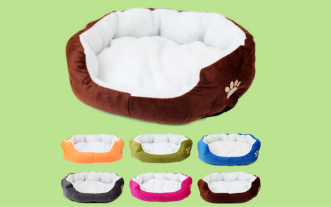 Cozy Cat Fleece Bed!