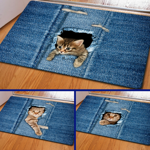 Cute Kitty Door Mat!