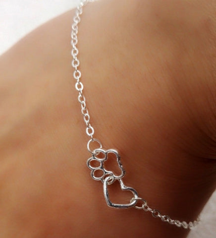 Charming Heart And Paw Bracelet!