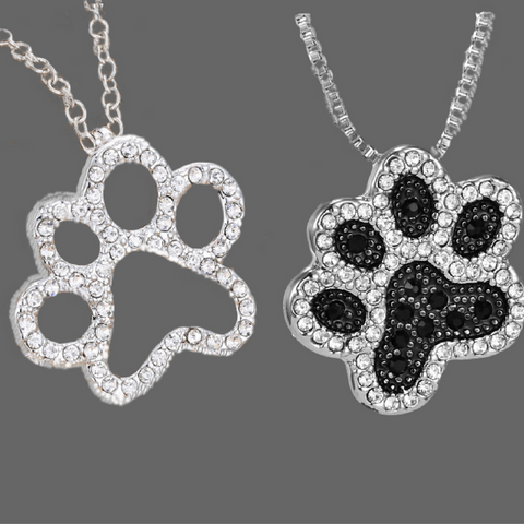 Paw Print Necklace(Bitzee Blue)