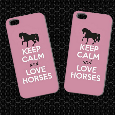 Keep Calm And Love Horses iPhone Cases!