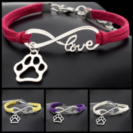 Leather Infinity Love Bracelet For Marley's Journey!