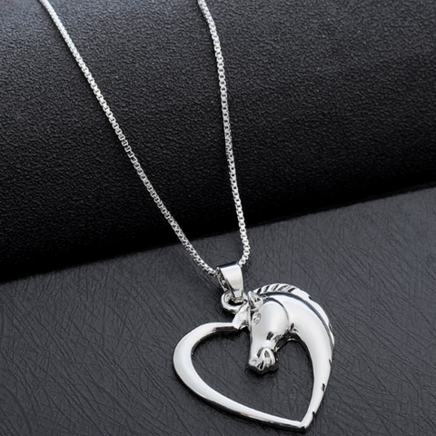 A Keepsake Heart-Shaped Horse Necklace!