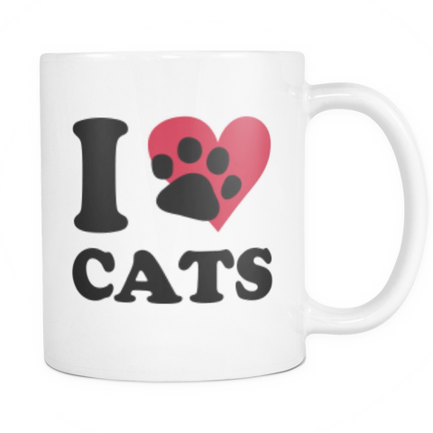 I Love Cats Coffee Mug!