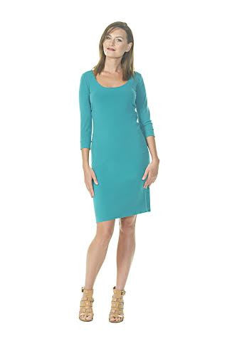 Scoop Neck Dress with Straight Skirt (38)