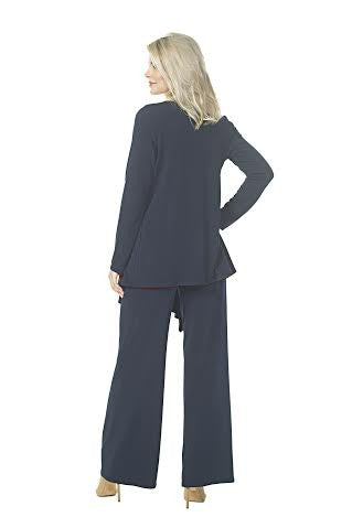 Long Jacket with Cascade Front
