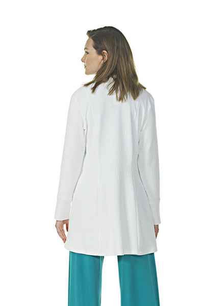 Long Open Jacket with Soft Front Opening