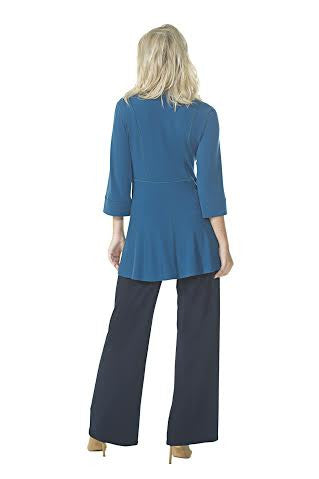 Fitted Jacket with Long Peplum (Plus Size)