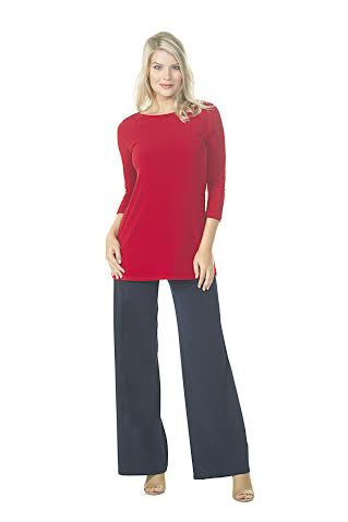Top with Bateau Neck and 3/4 sleeves
